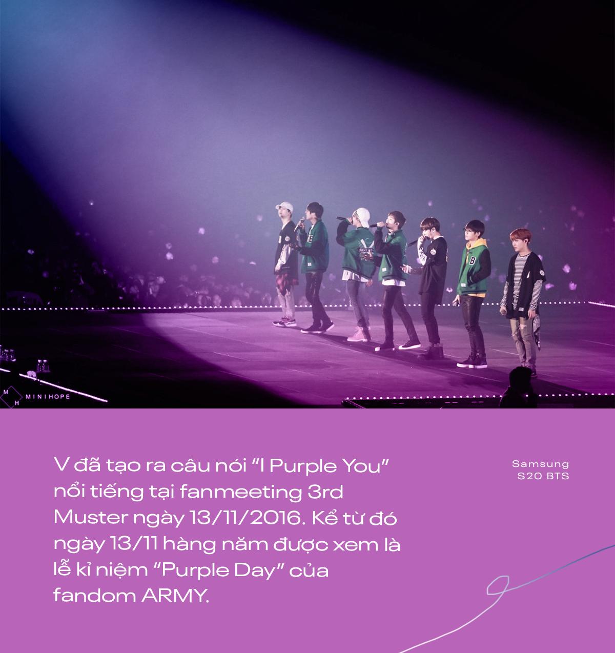 I Purple You - từ câu nói nổi tiếng dành riêng cho ARMY đến màu tím chỉ biểu trưng cho BTS - Ảnh 2.