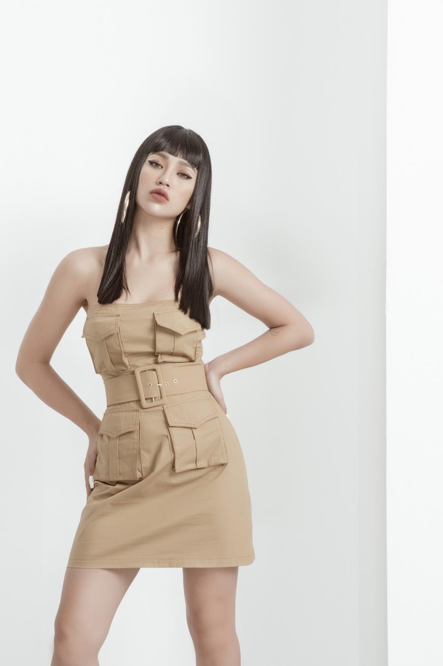 """Diện áo cúp ngực khoe khéo vòng eo con kiến, DJ Tít biến hóa thời trang xoành xoạch chuẩn """"Big city girl - Ảnh 5."""
