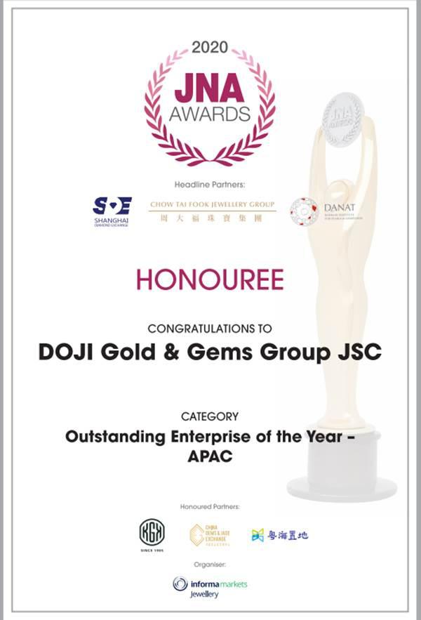 Tập đoàn DOJI được vinh danh là doanh nghiệp xuất sắc Châu Á Thái Bình Dương năm 2020 - Ảnh 1.