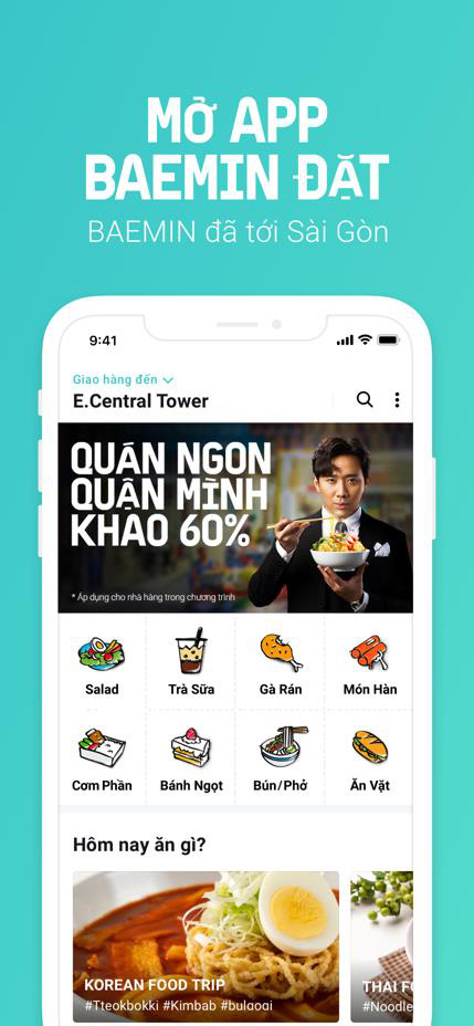 """Review BAEMIN – """"tân binh"""" vàng trong """"làng"""" app giao đồ ăn vừa cập bến Hà Nội - Ảnh 1."""