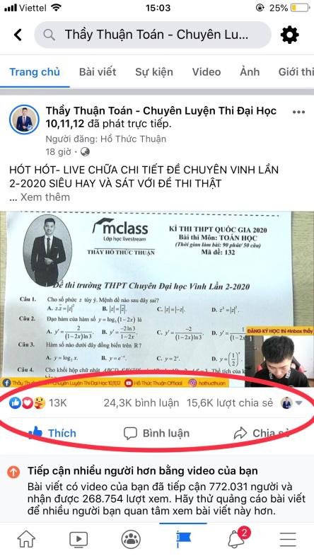 Thầy giáo Toán triệu view trên Facebook - Ảnh 5.