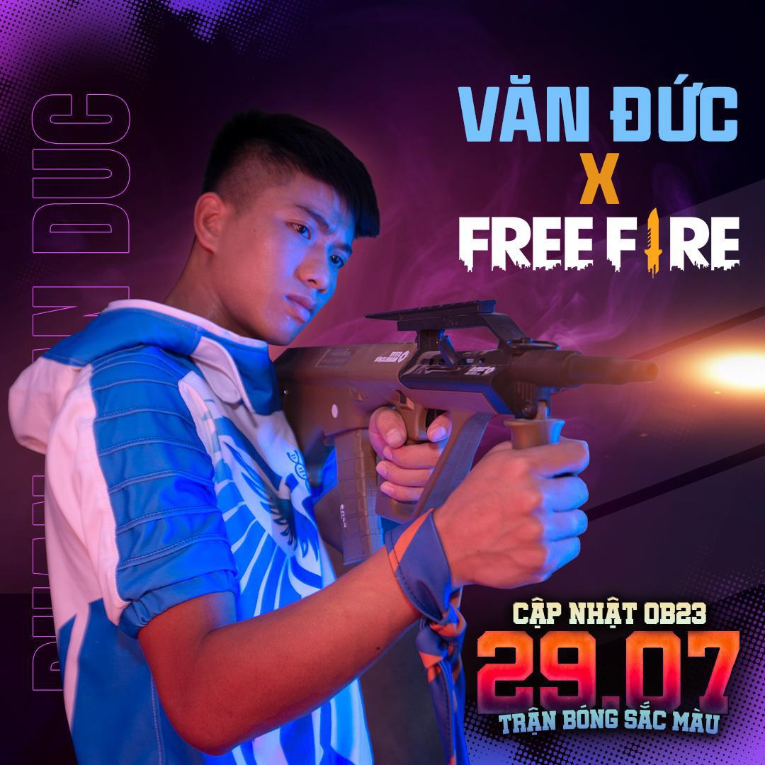 Free Fire chơi lớn kết hợp cùng Văn Đức ra mắt nhân vật Siêu Cầu Thủ, xuất hiện súng trường AUG, Đảo Quân Sự khoác áo mới - Ảnh 1.