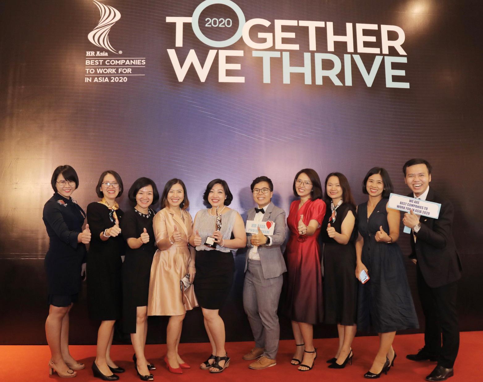 FWD được HR Asia vinh danh là nơi làm việc tốt nhất châu Á 2020 - Ảnh 2.