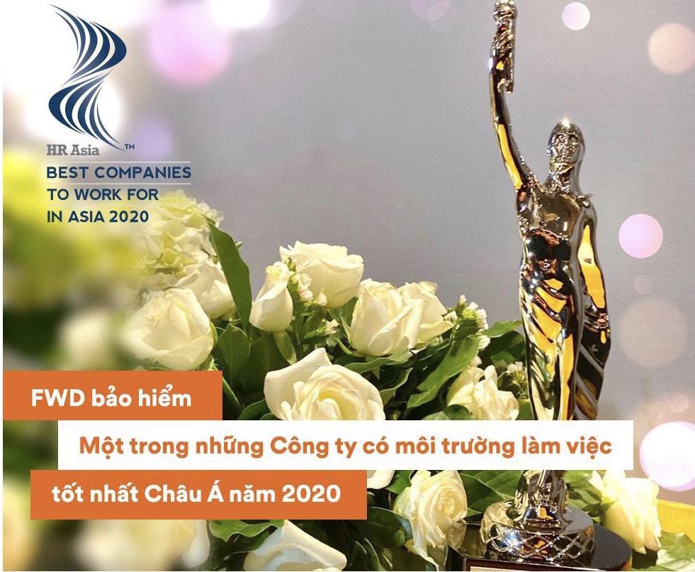 FWD được HR Asia vinh danh là nơi làm việc tốt nhất châu Á 2020 - Ảnh 3.