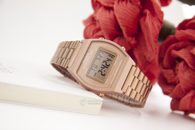 """""""Hot trend"""" đồng hồ Casio B640WC-5ADF điện tử vàng hồng - Ảnh 1."""