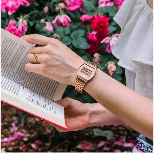 """""""Hot trend"""" đồng hồ Casio B640WC-5ADF điện tử vàng hồng - Ảnh 2."""