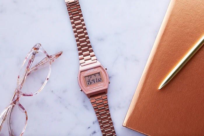 """""""Hot trend"""" đồng hồ Casio B640WC-5ADF điện tử vàng hồng - Ảnh 4."""