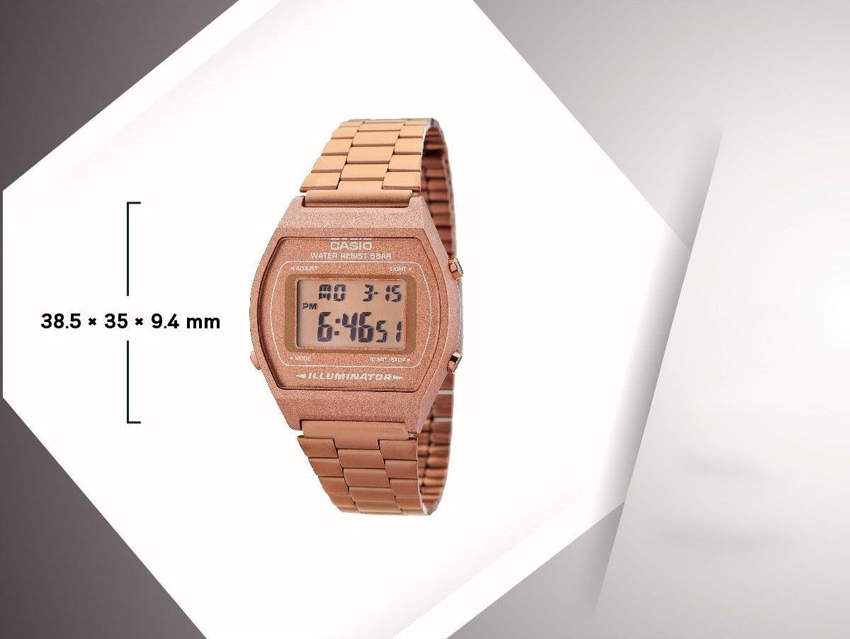 """""""Hot trend"""" đồng hồ Casio B640WC-5ADF điện tử vàng hồng - Ảnh 5."""