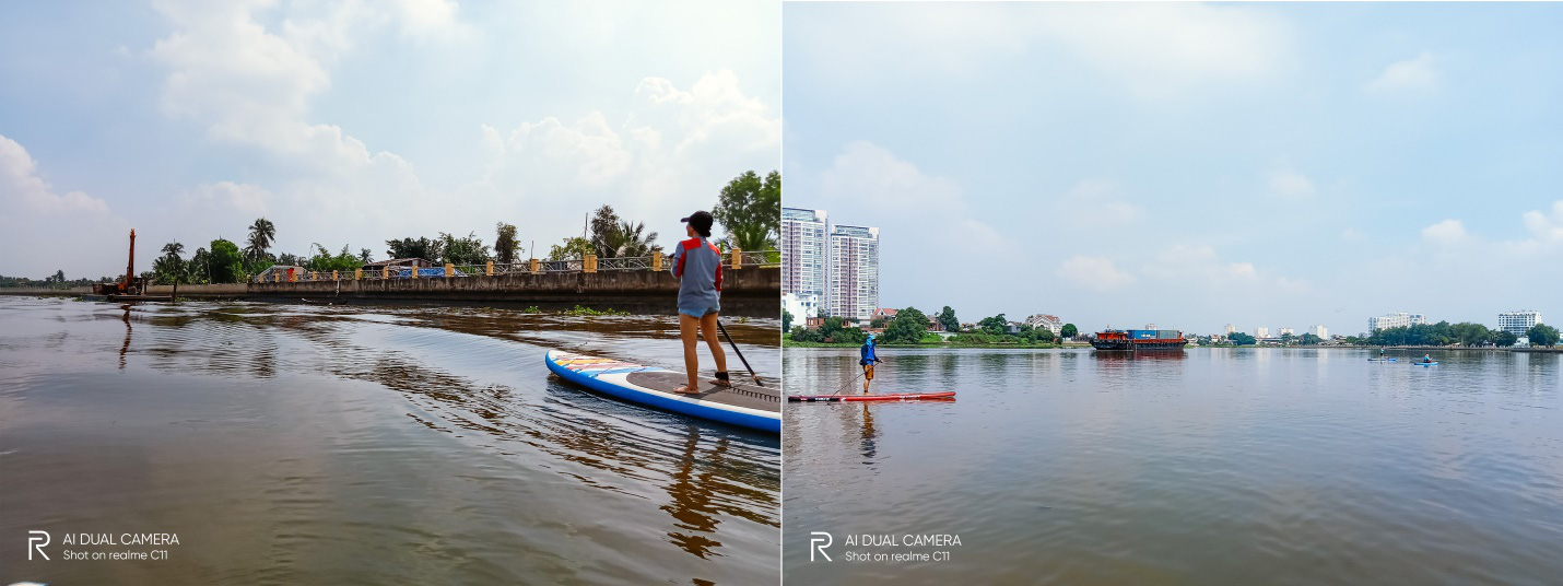 """""""Phiêu lưu"""" sông Sài Gòn chơi thuyền SUP cùng Realme C11 - Ảnh 2."""