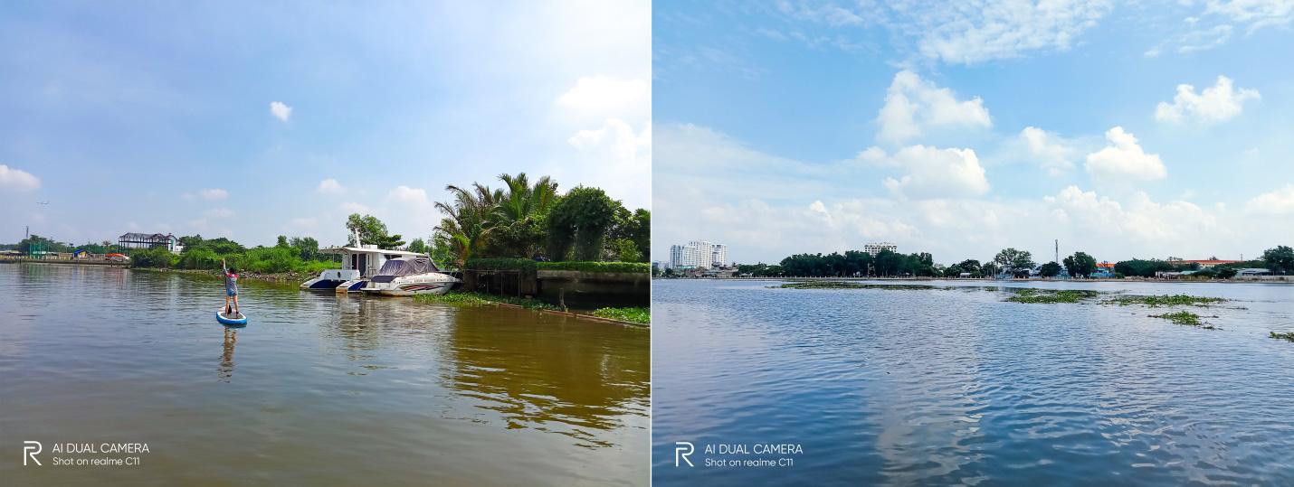 """""""Phiêu lưu"""" sông Sài Gòn chơi thuyền SUP cùng Realme C11 - Ảnh 3."""