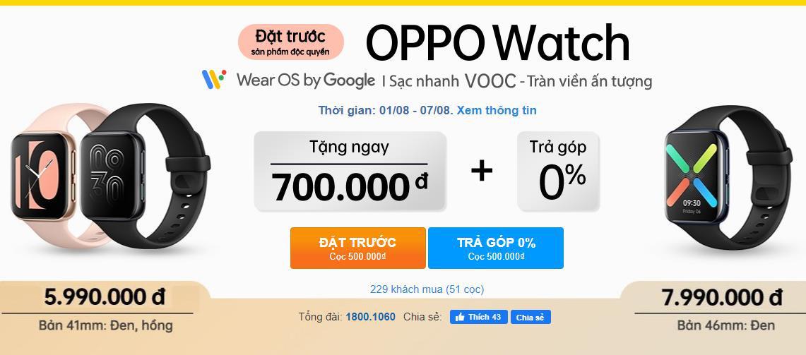 """Đặt trước siêu phẩm OPPO Watch đầu tiên với """"giá cực tốt"""", chỉ có tại Thế Giới Di Động - Ảnh 1."""