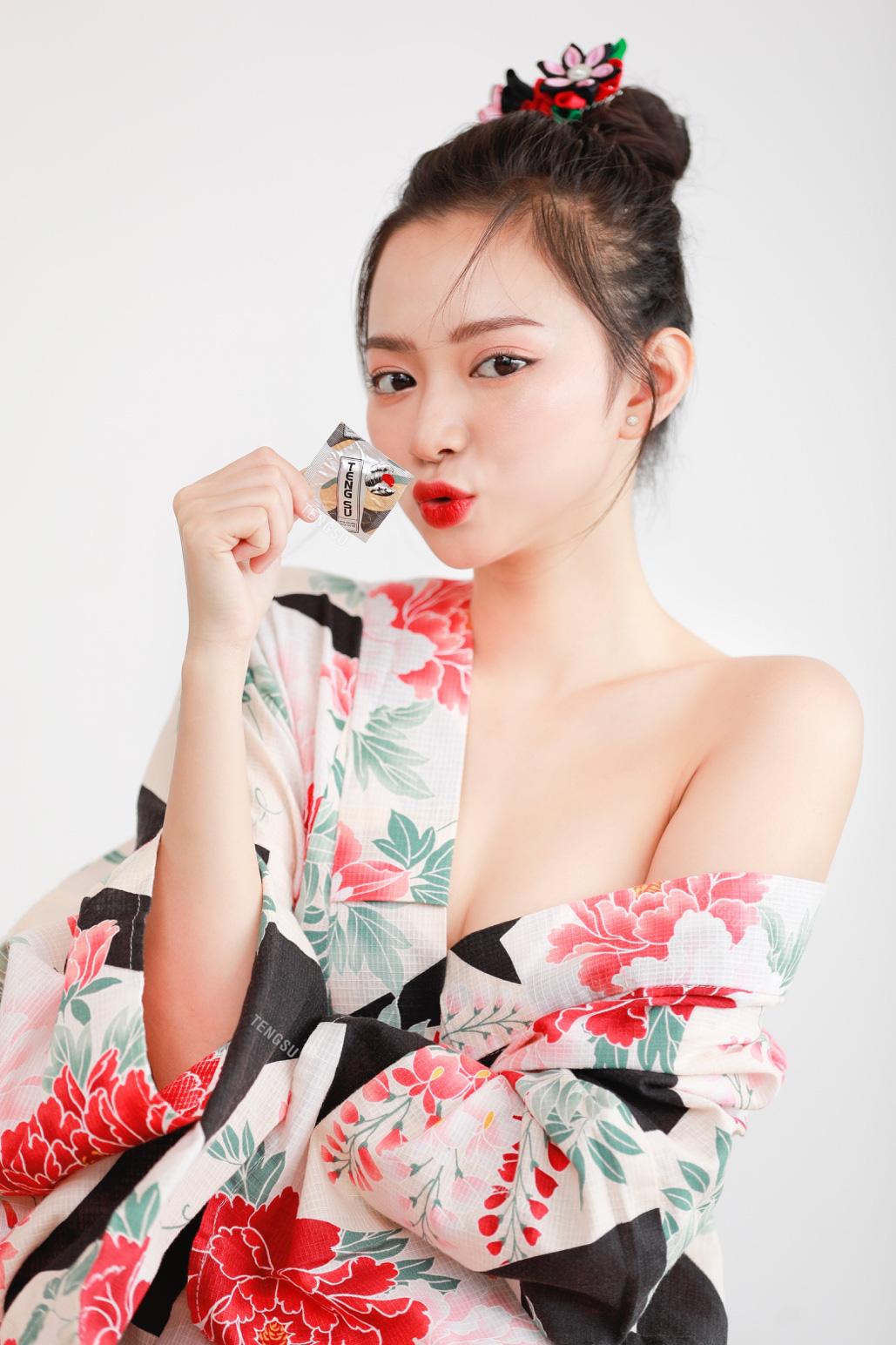 Bóng hồng streamer sinh năm 1999 lần đầu mặc kimono nóng bỏng, ai nấy đều ngỡ ngàng vì quá xinh - Ảnh 4.
