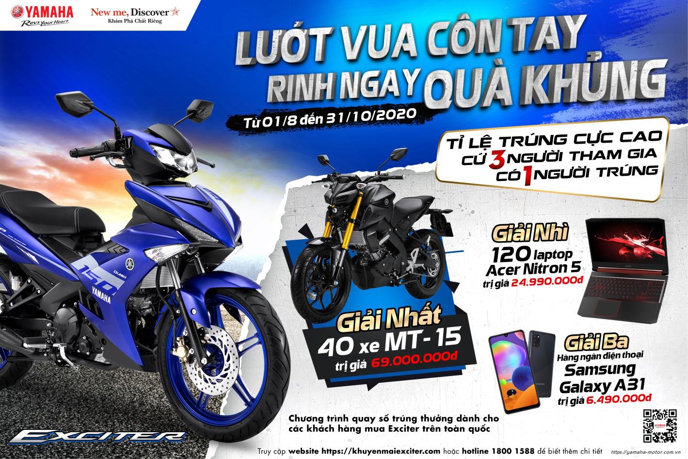 """Khách hàng """"ẵm trọn"""" xe mô tô thể thao trị giá gần 70 triệu khi mua Yamaha Exciter - Ảnh 1."""