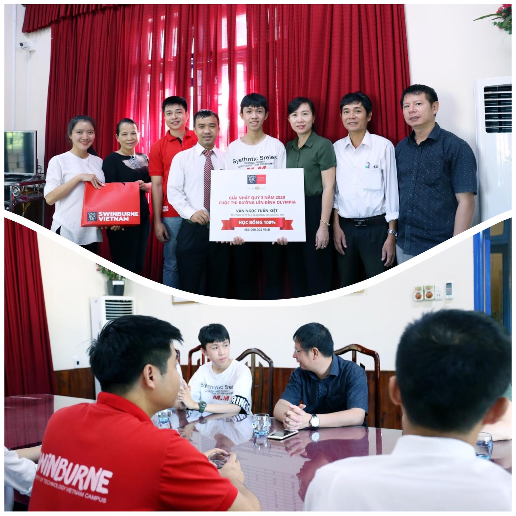Swinburne Việt Nam trao học bổng gần 2 tỷ đồng cho 4 thí sinh trước vòng chung kết Olympia - Ảnh 4.