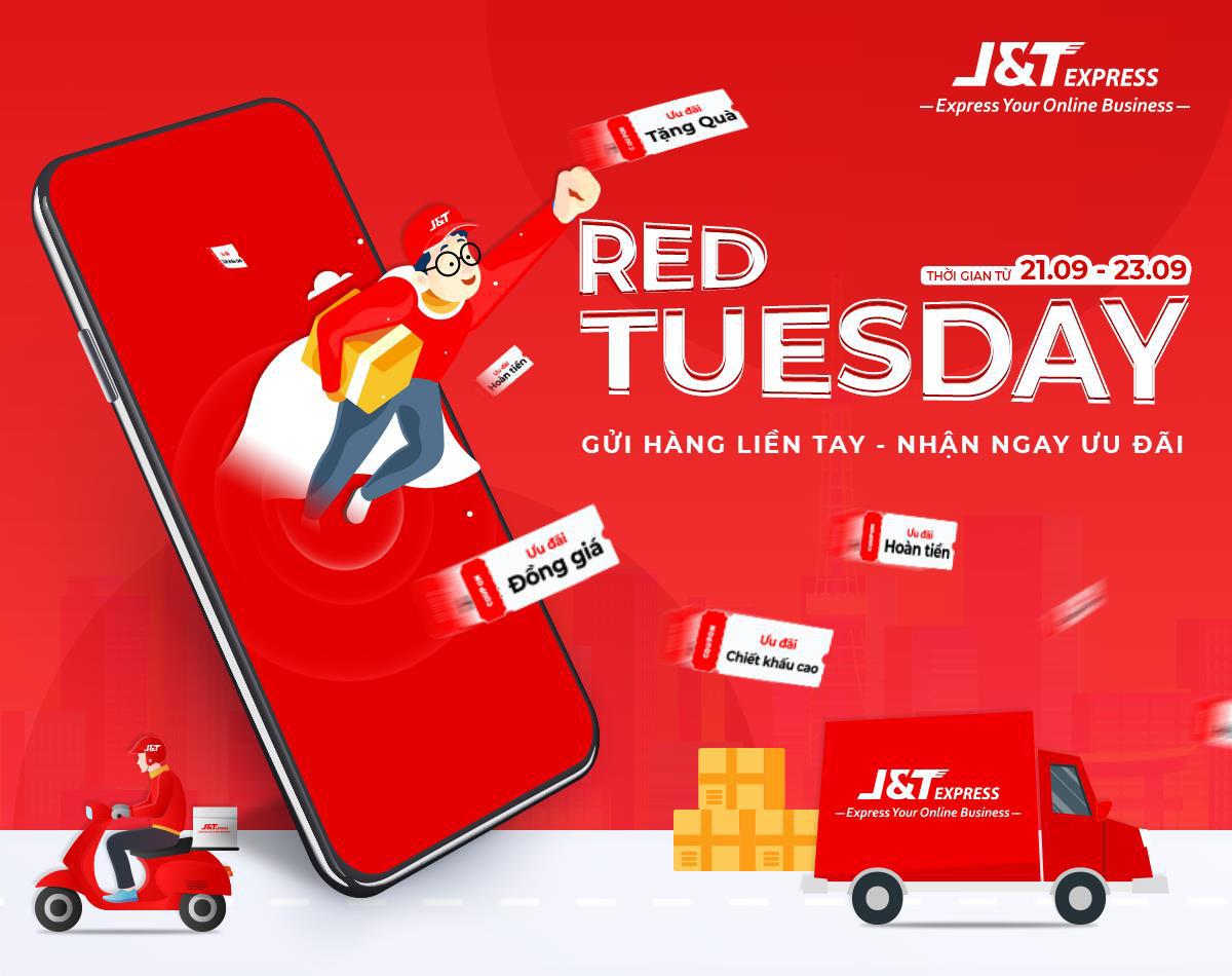 J&T Express: Gửi hàng ngày Red Tuesday nhận ngay ưu đãi khủng - Ảnh 1.