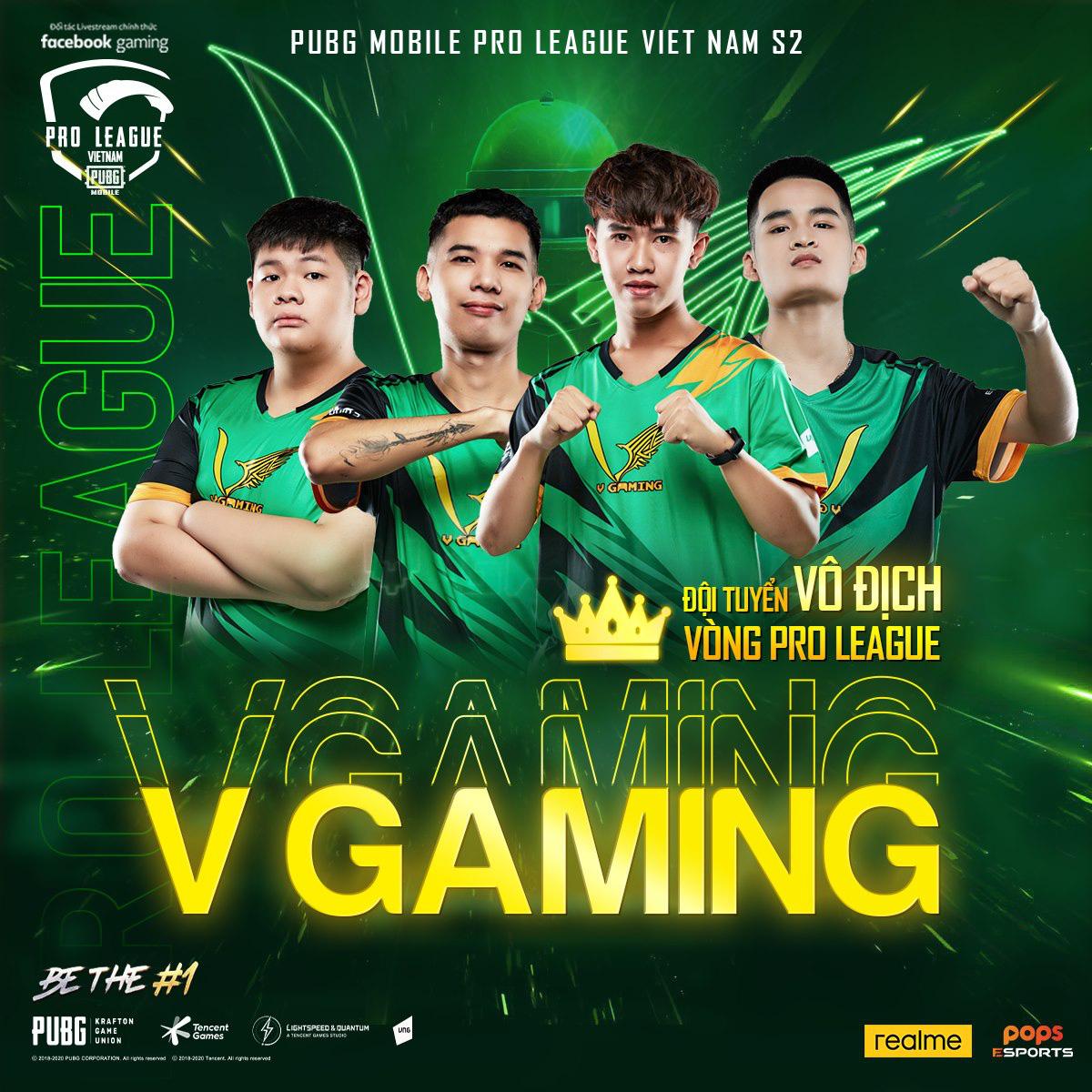 """PMPL VN S2 - Tuần 3: V Gaming xuất sắc trở thành nhà vô địch vòng Pro League, """"cựu vương"""" cũng kịp tăng tốc để chiếm lấy vị trí thứ 2 - Ảnh 1."""