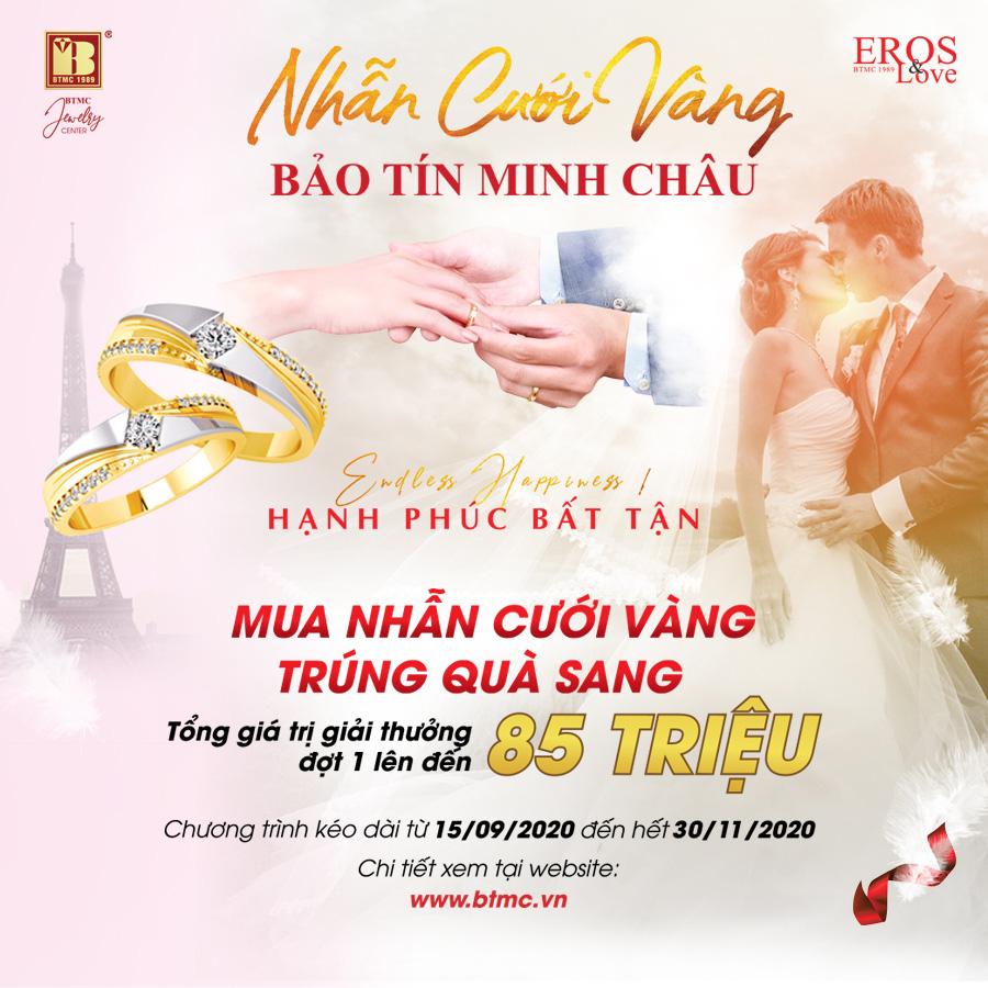 Mua nhẫn cưới vàng trúng quà sang tại Bảo Tín Minh Châu - Ảnh 1.