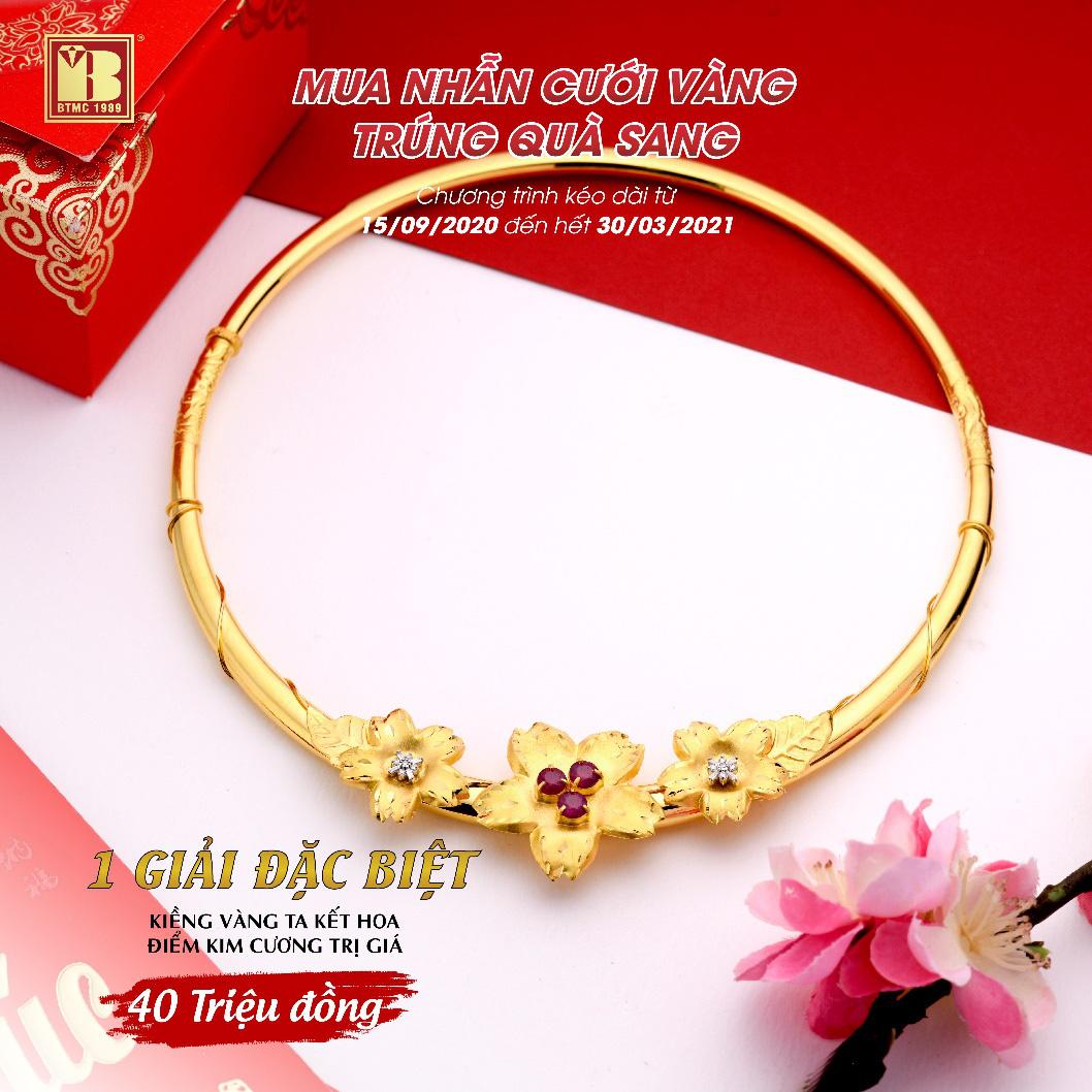 Mua nhẫn cưới vàng trúng quà sang tại Bảo Tín Minh Châu - Ảnh 2.