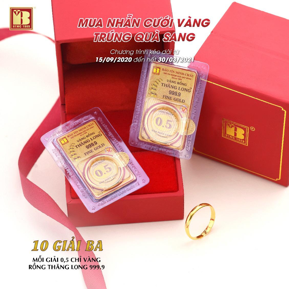 Mua nhẫn cưới vàng trúng quà sang tại Bảo Tín Minh Châu - Ảnh 5.