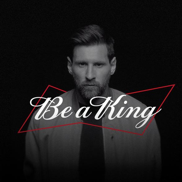 Budweiser chọn Messi làm đại sứ thương hiệu mới để lan tỏa thông điệp 'Chất Vua không lùi bước' - Ảnh 2.