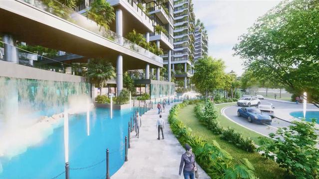 Dự án căn hộ tại Long Biên sở hữu hệ thống suối và thác nước liên hoàn hàng trăm mét - Ảnh 3.