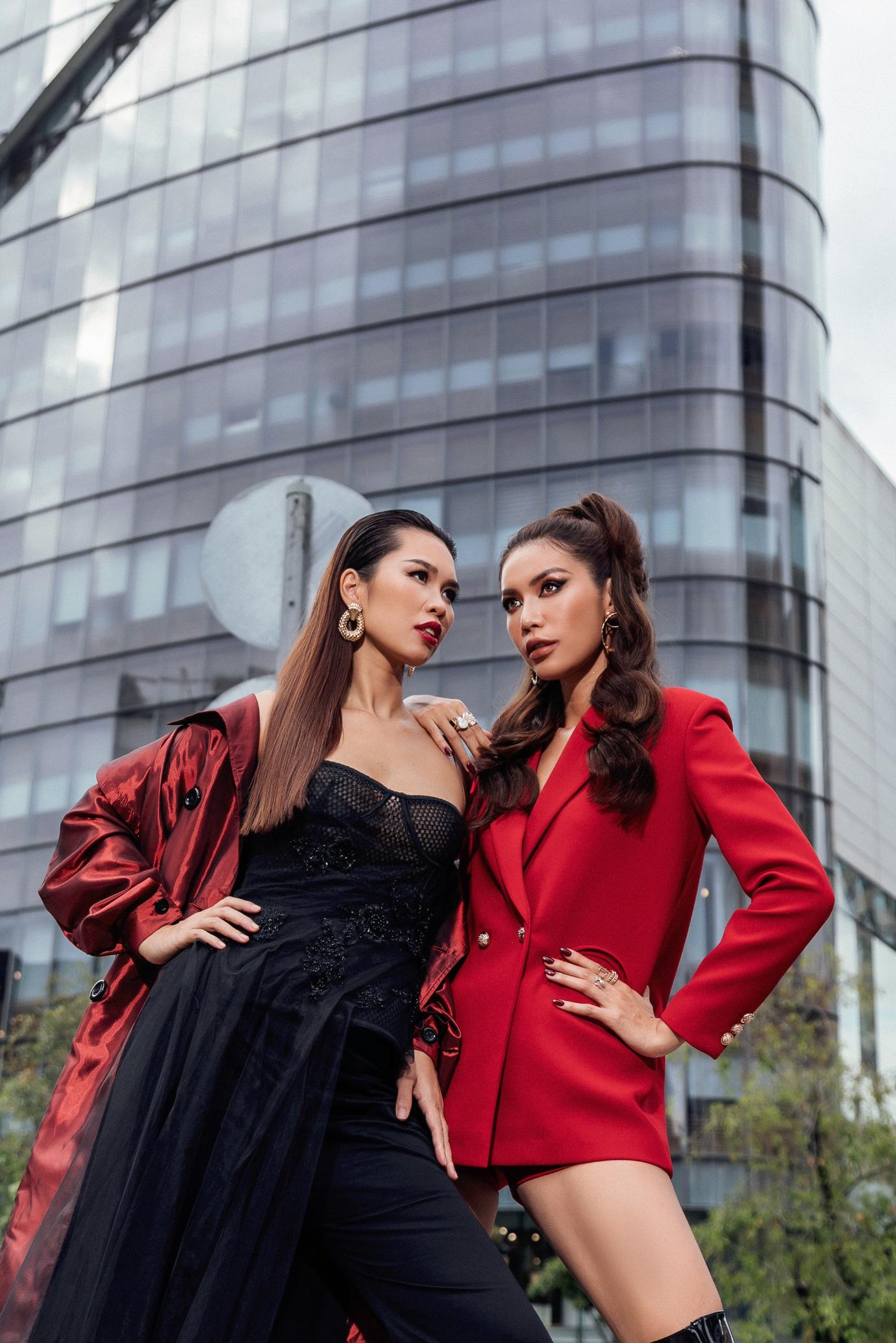 Diện đồ street style vẫn catwalk đầy thần thái, bộ đôi Hà Anh - Minh Tú vừa trở lại đã khuấy đảo làng thời trang Việt - Ảnh 5.
