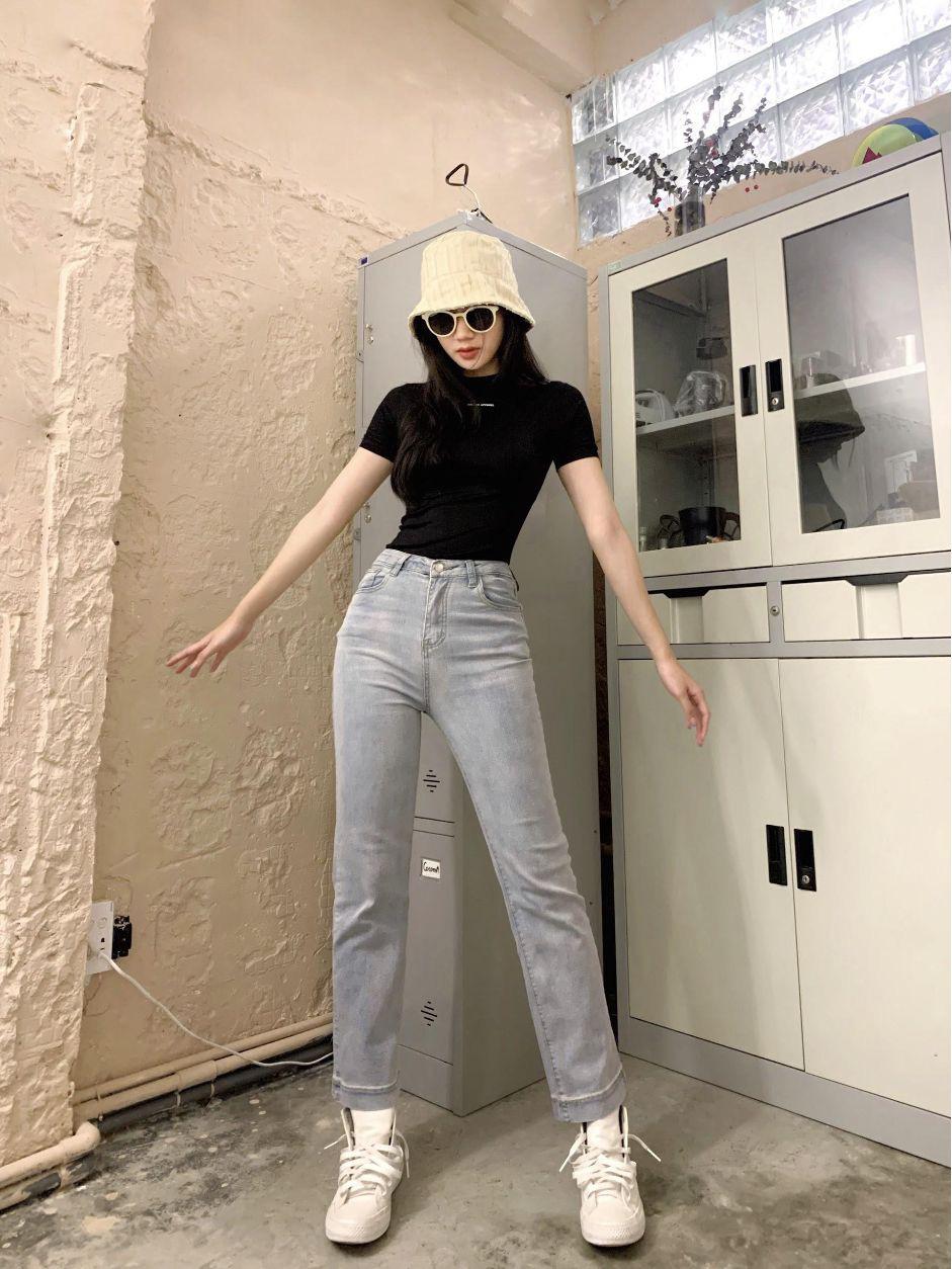 """F5 phong cách năng động cá tính với bộ đôi quần jeans mix áo crop top cùng shop thời trang """"đình đám"""" Đà thành - Ảnh 2."""