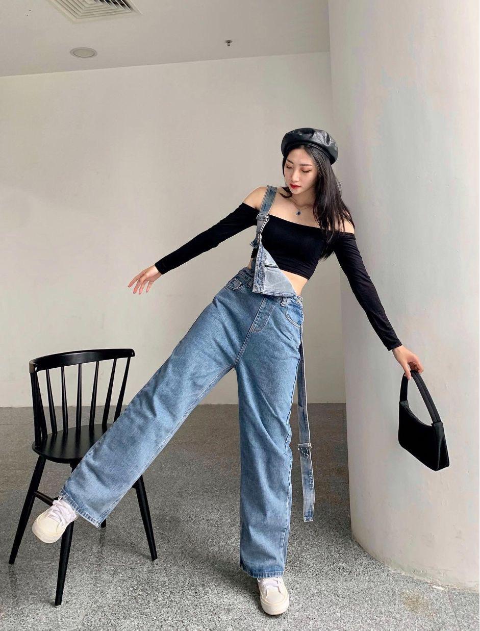 """F5 phong cách năng động cá tính với bộ đôi quần jeans mix áo crop top cùng shop thời trang """"đình đám"""" Đà thành - Ảnh 3."""