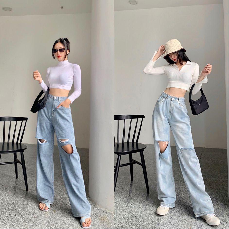 """F5 phong cách năng động cá tính với bộ đôi quần jeans mix áo crop top cùng shop thời trang """"đình đám"""" Đà thành - Ảnh 4."""