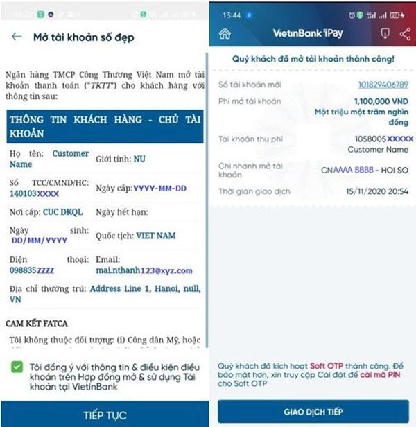 Đăng ký tài khoản số đẹp ngay trên ứng dụng VietinBank iPay Mobile: Giảm phí lên đến 50% - Ảnh 4.