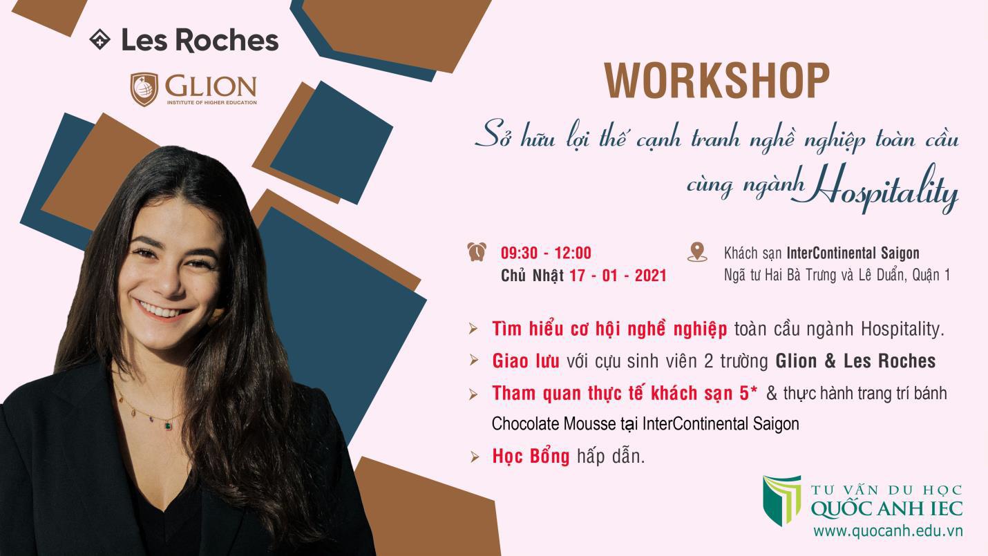 Workshop - Mở cánh cửa sự nghiệp quốc tế cùng ngành Hospitality - Ảnh 1.