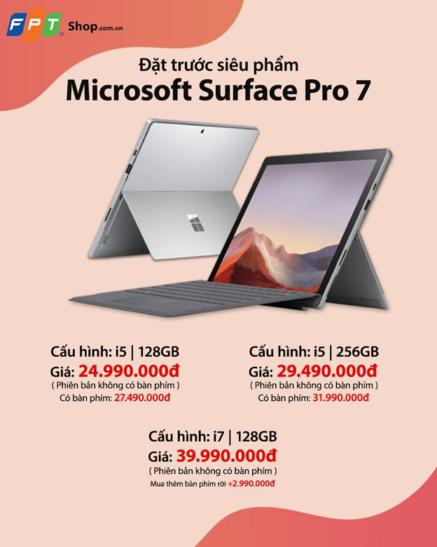 Nhận ngay ưu đãi trị giá 3 triệu khi đặt trước siêu phẩm Microsoft Surface Pro 7 tại FPT Shop - Ảnh 2.