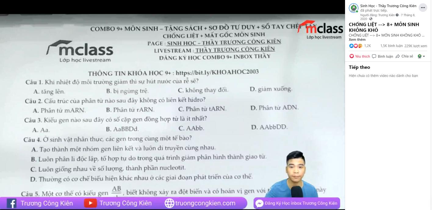 Thầy giáo trẻ truyền ngọn lửa đam mê môn Sinh học cho học sinh qua livestream Facebook - Ảnh 5.