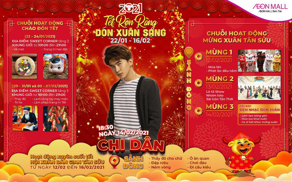 Tưng bừng sự kiện mừng xuân Tân Sửu tại AEON MALL Bình Tân - Ảnh 3.