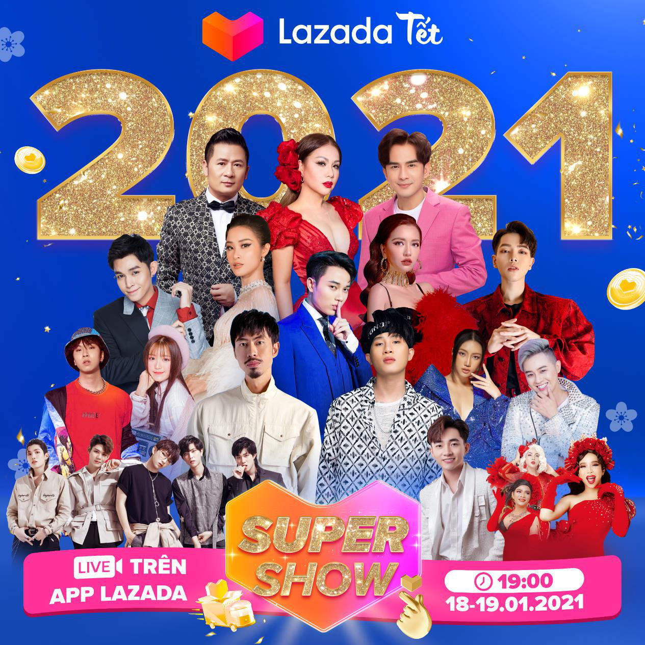 Tối nay, Jack, Đen, Đông Nhi, Bích Phương hội ngộ trên sân khấu Super Show Tết, hứa hẹn mang đến đại nhạc hội không thể bỏ qua - Ảnh 1.