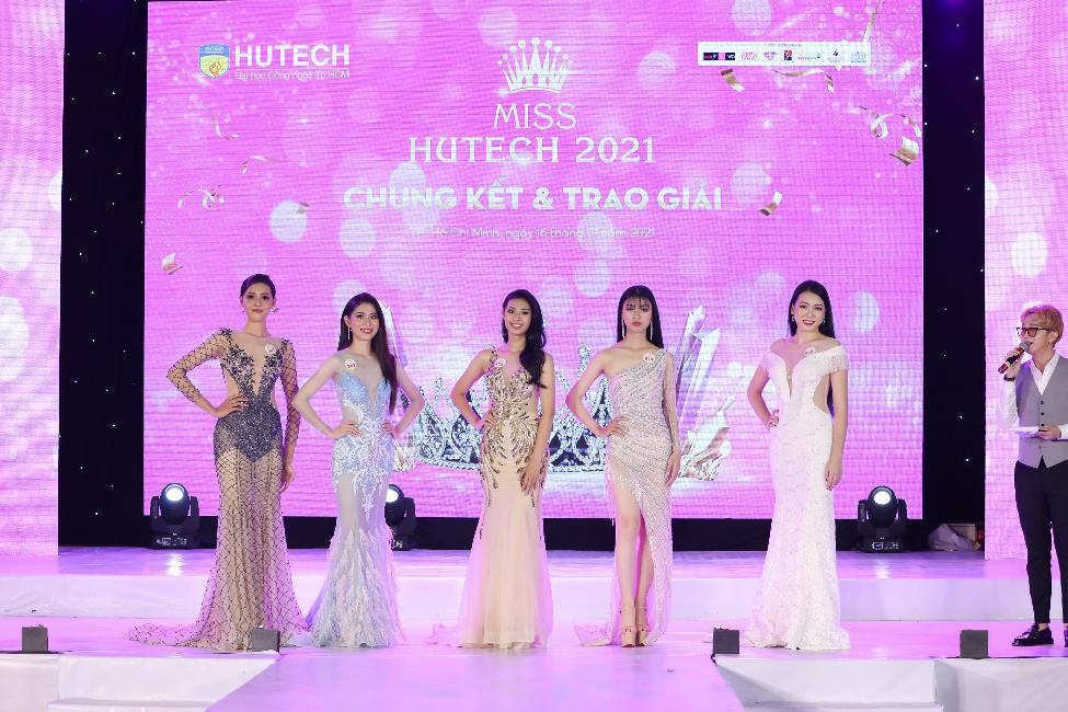 Dàn Hoa hậu, Á hậu đình đám hội ngộ tại Gala Chung kết Miss HUTECH 2021 - Ảnh 4.