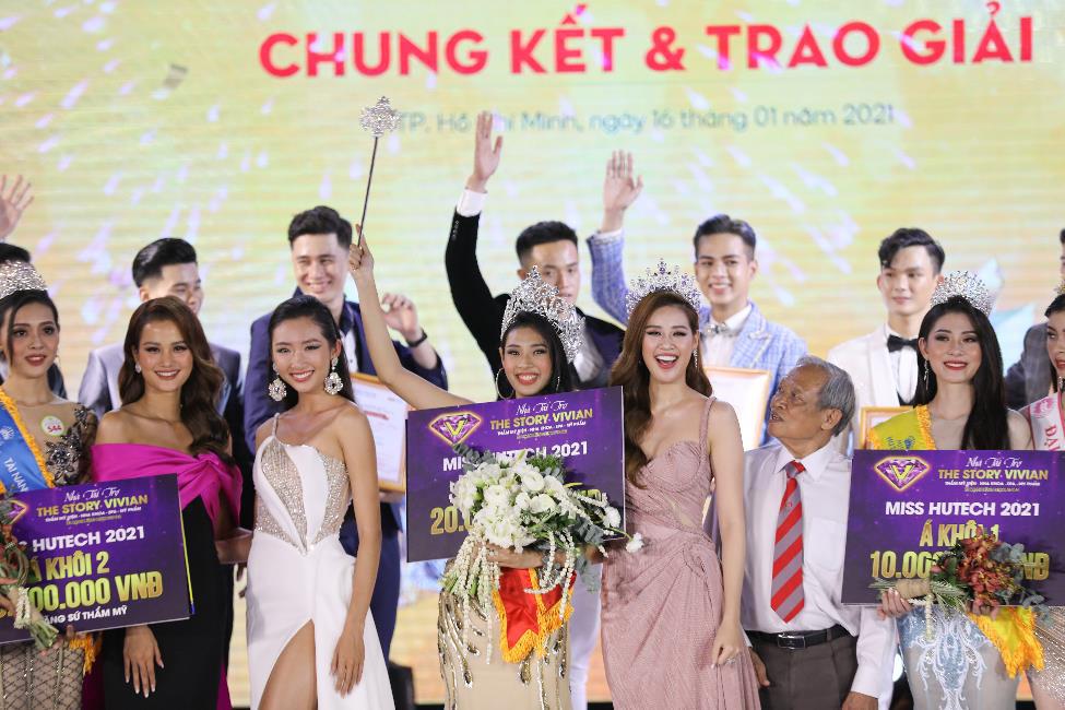 Dàn Hoa hậu, Á hậu đình đám hội ngộ tại Gala Chung kết Miss HUTECH 2021 - Ảnh 5.