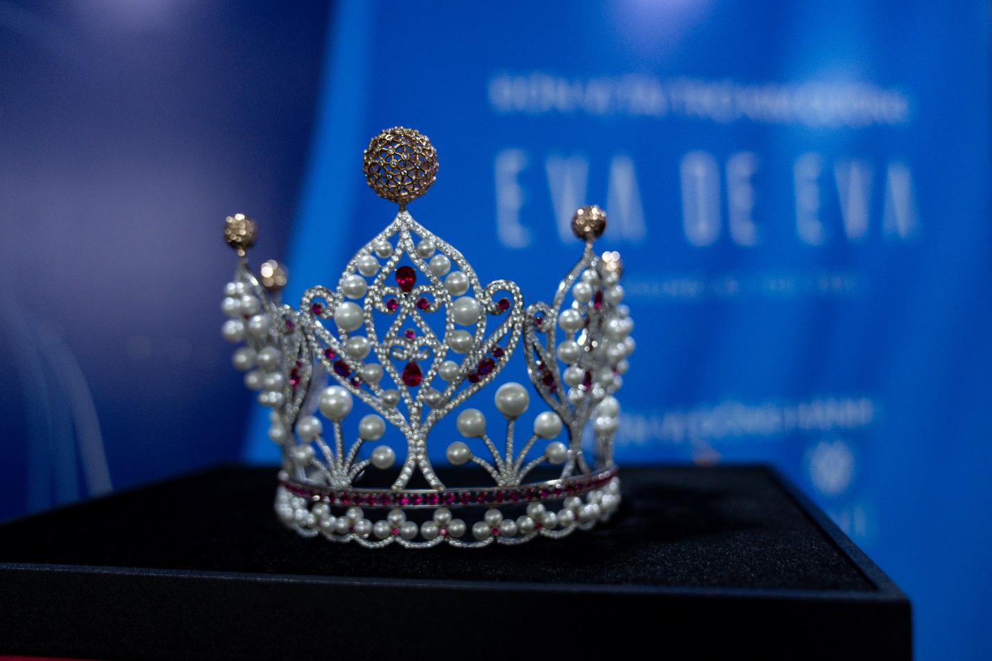 Cận cảnh vương miện Hoa khôi Sinh viên Việt Nam vừa được trao: Vàng hồng 10k và ngọc trai quý giá - Ảnh 2.