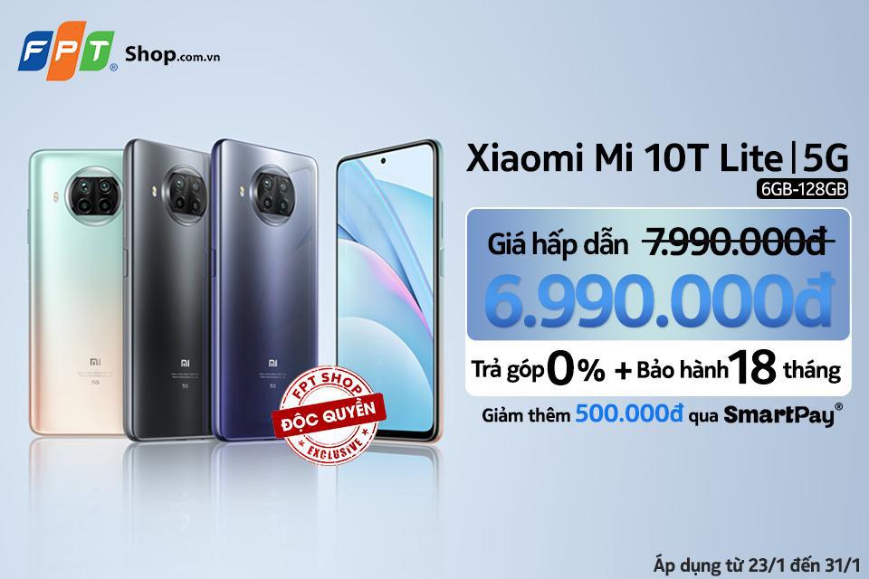 Lì xì đến 1,5 triệu khi mua Xiaomi Mi 10T Lite 5G 6GB - 128GB độc quyền tại FPT Shop - Ảnh 1.