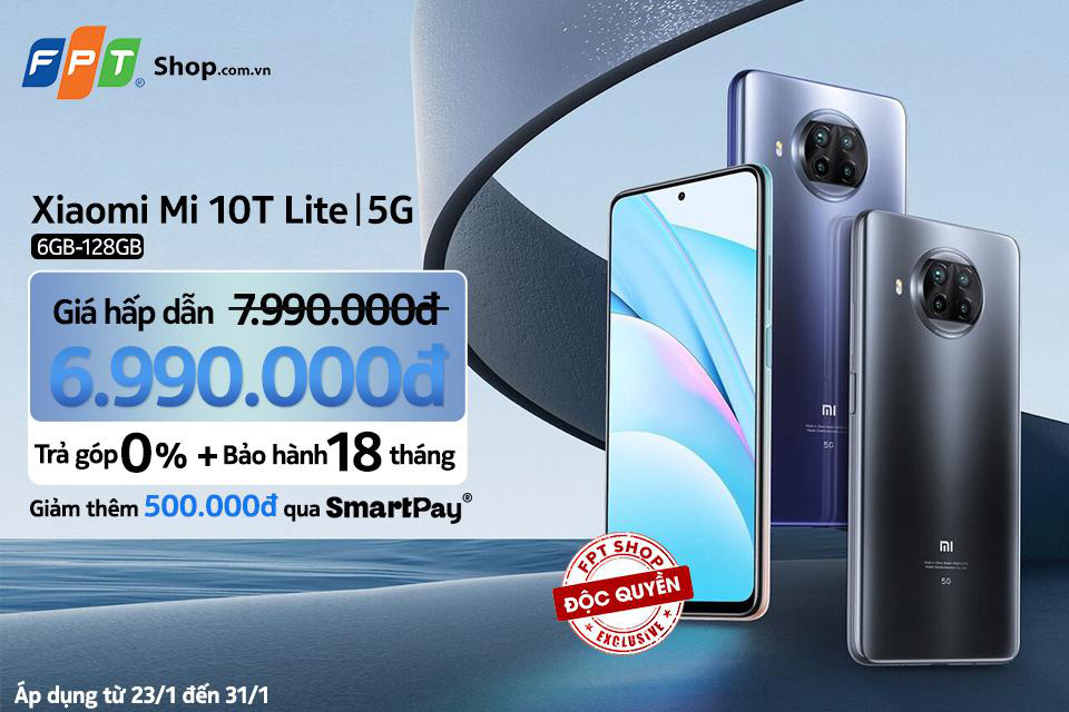 Lì xì đến 1,5 triệu khi mua Xiaomi Mi 10T Lite 5G 6GB - 128GB độc quyền tại FPT Shop - Ảnh 2.