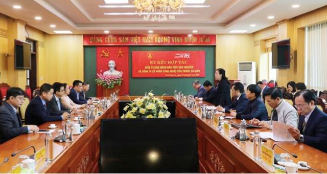Saigontel tài trợ tỉnh Thái Nguyên lập quy hoạch, chuyển đổi số - Ảnh 1.