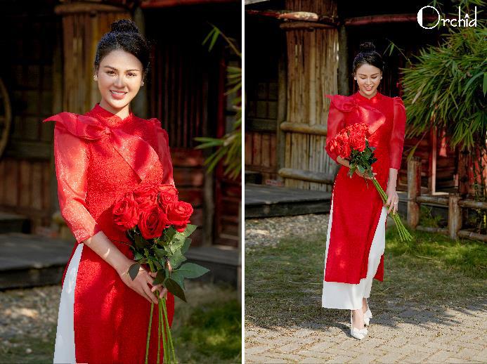 Auto xinh gái khi diện áo dài Orchid đón Tết Tân Sửu - Ảnh 7.
