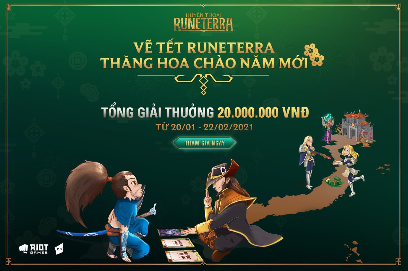 Huyền Thoại Runeterra tưng bừng khai xuân với cuộc thi Vẽ Tết Runeterra - Thăng hoa chào năm mới - Ảnh 1.
