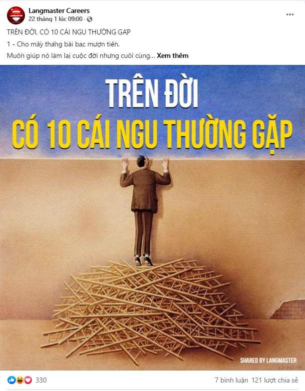 Sự nghiệp thăng hoa nhờ follow fanpage tuyển dụng lớn tại Việt Nam: Langmaster Careers - Ảnh 2.