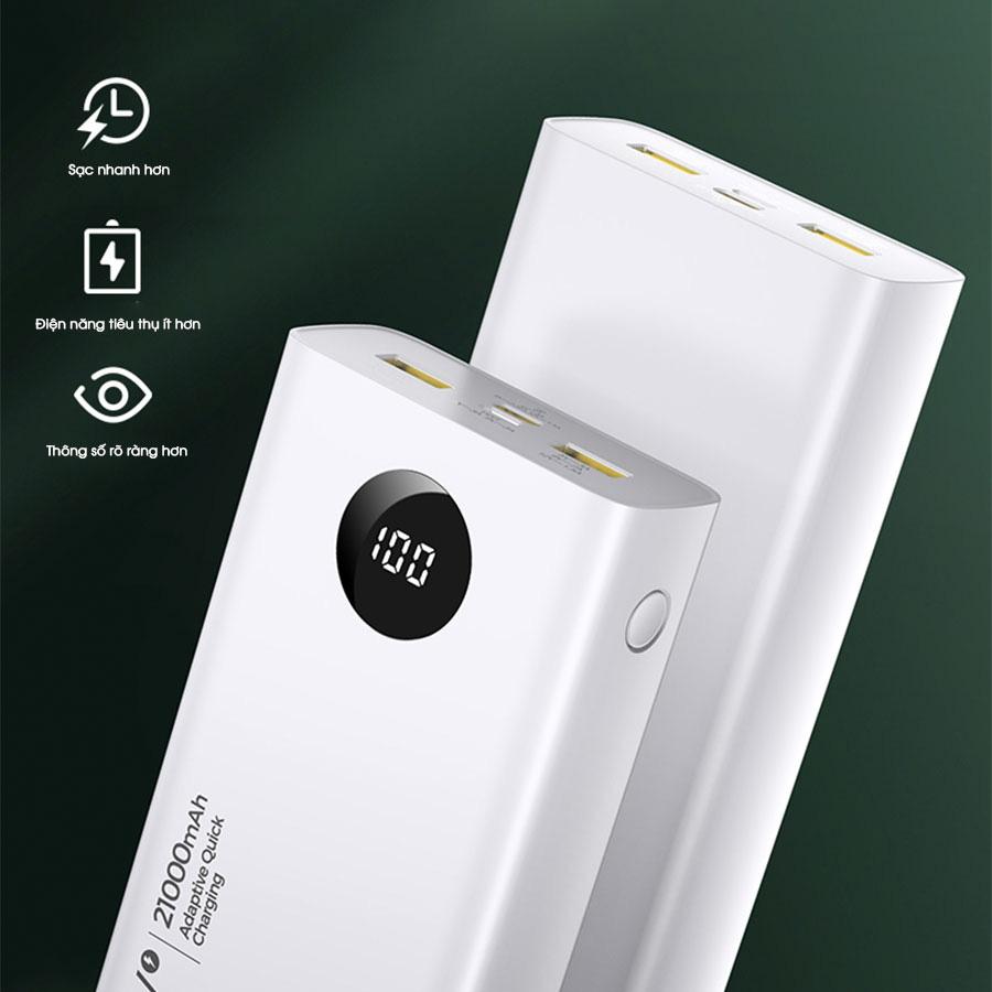PISEN QUICK 21000mAh (LED) 20W - Tuyệt tác sạc dự phòng cho iPhone 12 - Ảnh 2.