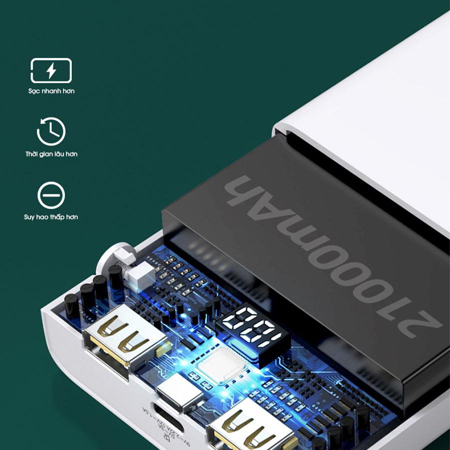 PISEN QUICK 21000mAh (LED) 20W - Tuyệt tác sạc dự phòng cho iPhone 12 - Ảnh 4.