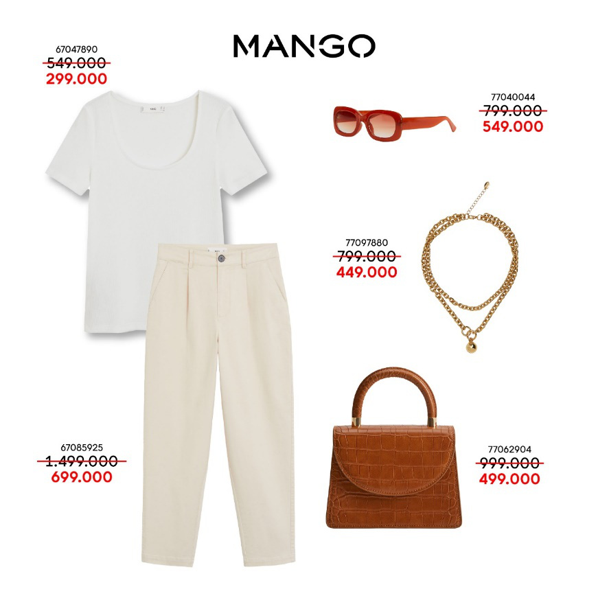 Liên tục thay đổi phong cách với 5 outfits hàng hiệu MANGO cực xịn giá chỉ từ 349K - Ảnh 3.