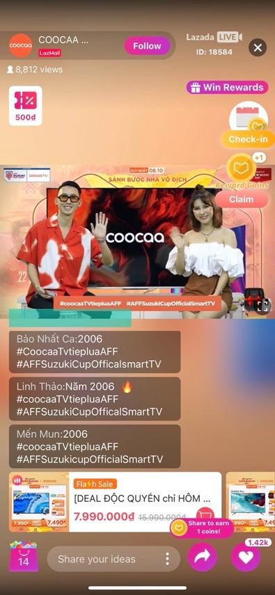 coocaa Super TV bùng nổ cùng bóng đá, cổ vũ đội tuyển Việt Nam - Ảnh 1.