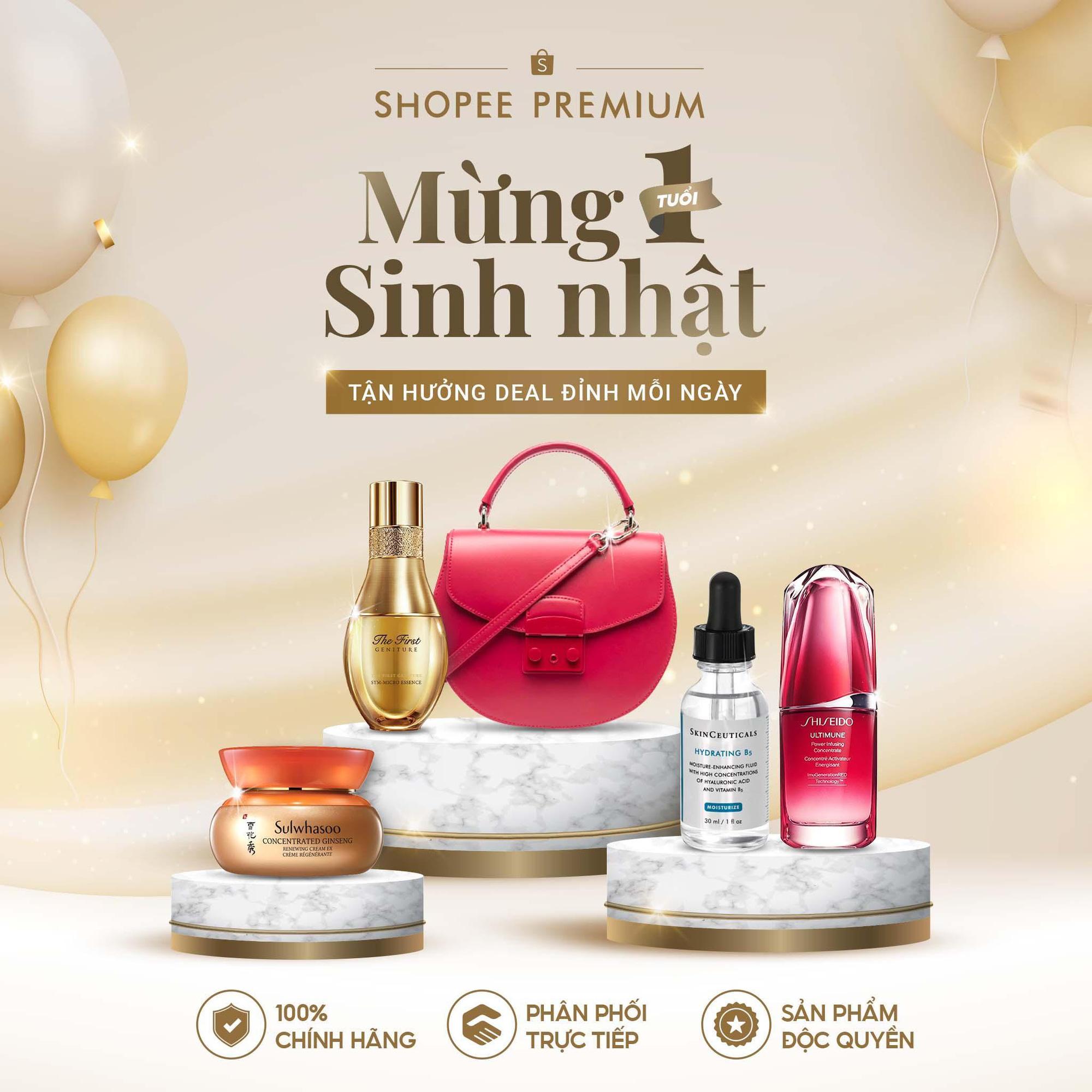 Shopee Premium mừng sinh nhật 1 tuổi với chuỗi quà tặng lớn nhất từ trước đến nay - Ảnh 1.