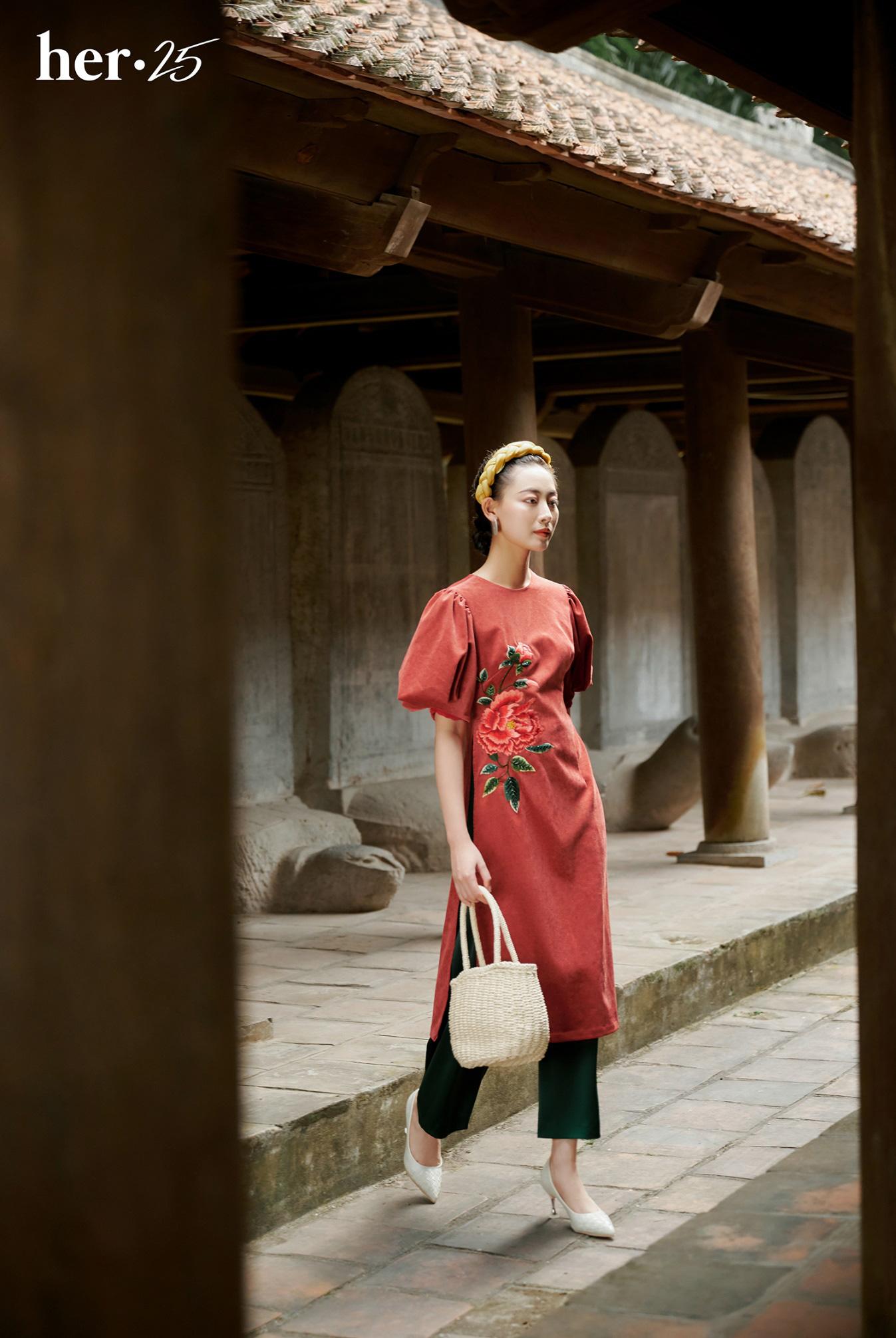 Tết mặc áo dài không mập với 5 tips dễ thử từ HER 25 - Ảnh 2.